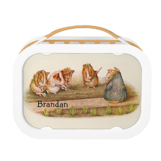 Personalized Guinea Pigs Gardening Lunchbox