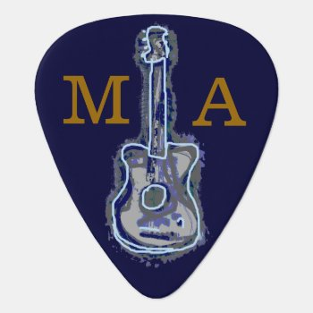 Personalized Guitar Blues Guitar Pick by mixedworld at Zazzle