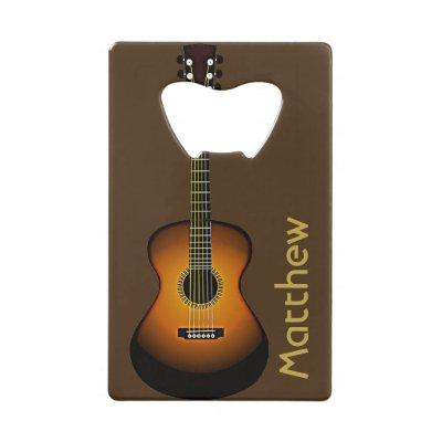 Acoustic Guitar Keychain Bottle Opener