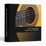 Personalized Guitar Music Binder