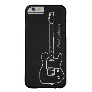 personalized guitar on black barely there iPhone 6 case