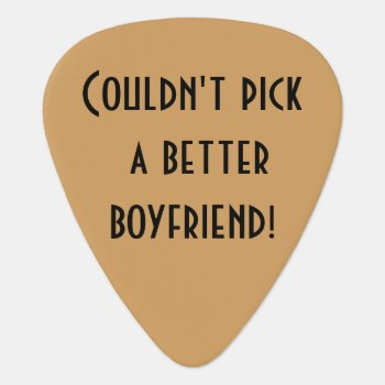 Personalized Guitar Pick by iHave2Say at Zazzle