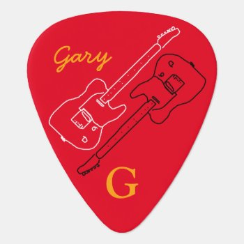 Personalized Guitar-pick For The Guitar-man by mixedworld at Zazzle