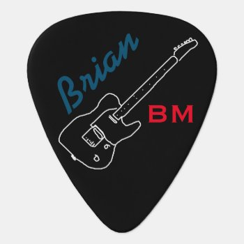 Personalized Guitar-pick For The Guitarman by mixedworld at Zazzle