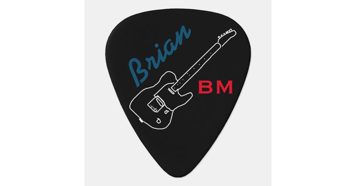 Personalized Guitar Pick For The Guitarman Zazzle Com