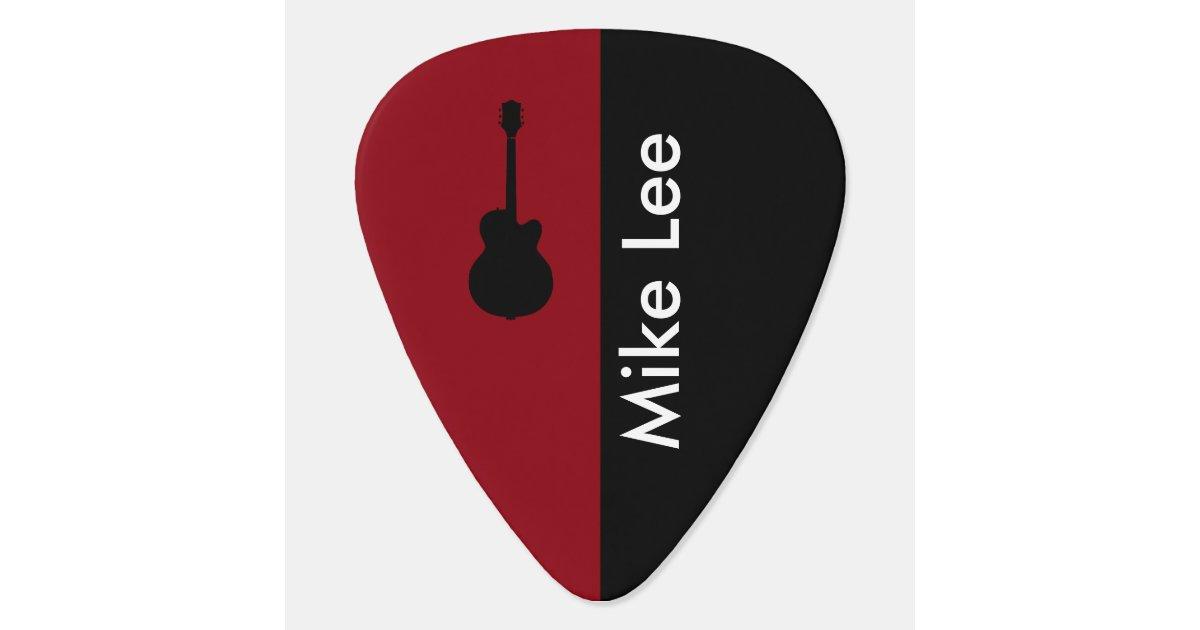 personalized guitar star guitar pick. Black Bedroom Furniture Sets. Home Design Ideas