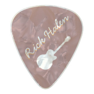personalized guitarist mark pearl celluloid guitar pick