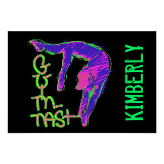 Personalized Gymnast Poster