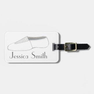 Personalized Gymnastics Acro Shoe Dance Bag Tag