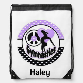 Personalized gymnastics backpack