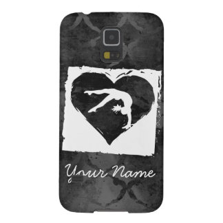 Personalized Gymnastics Dance Heart Grey Case For Galaxy S5