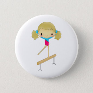 Personalized Gymnastics gifts and accessories Button