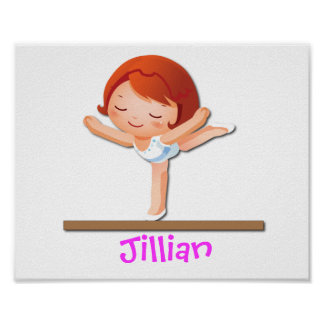 Personalized GYMNASTICS Gifts Poster