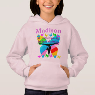 PERSONALIZED GYMNASTICS GOALS AND DREAMS APPAREL HOODIE