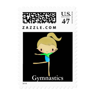 Personalized Gymnastics Postage stamps