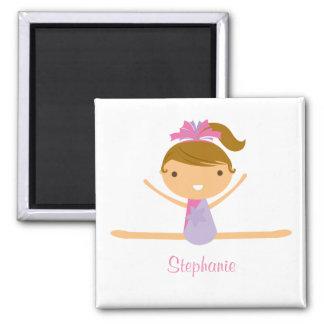 Personalized gymnastics split girl s kids magnet