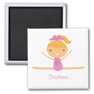 Personalized gymnastics split girl's kids magnet