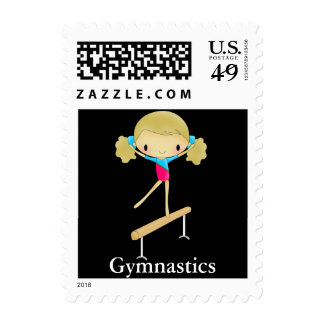 Personalized Gymnastics stamps