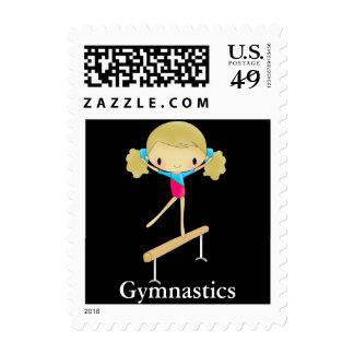 Personalized Gymnastics stamps