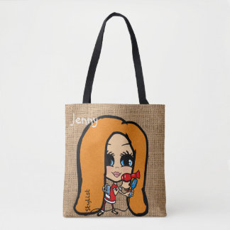 Personalized Hair Stylist Bag Caricature red head
