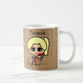 Personalized Hair stylist Mug Caricature blonde