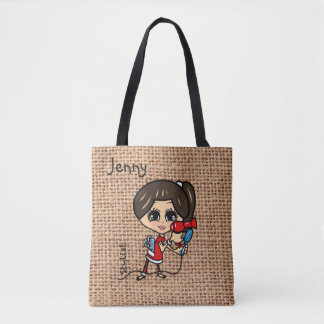 Personalized Hairdresser Bag Caricature brown