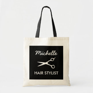 Personalized hairdresser tote bag for hair stylist