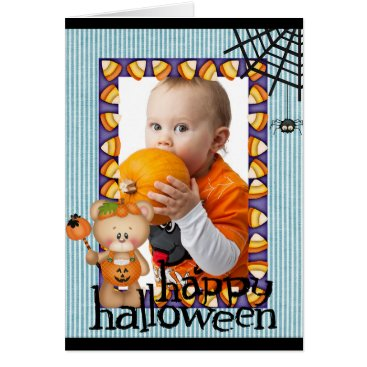 Halloween Themed Personalized Halloween Baby Photo Card