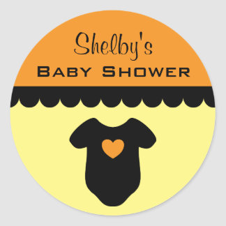 personalized halloween baby shower favor stickers