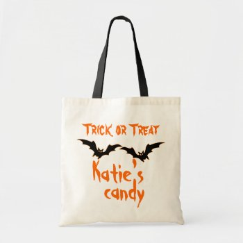 Personalized Halloween Candy Bag bag