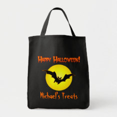 Personalized Halloween Candy Bag at Zazzle