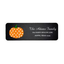Personalized Halloween Chalkboard Little Pumpkin Label