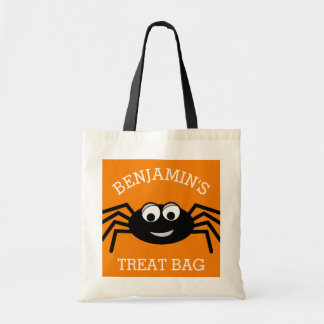 Personalized Halloween Cute Cartoon Spider Treat Budget Tote Bag