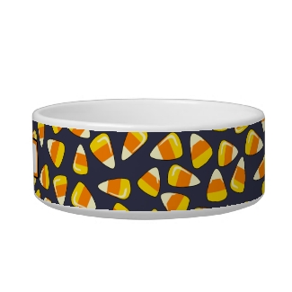 Personalized Halloween Dog or Cat Bowl Candy Corn