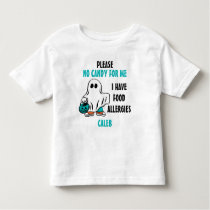 Personalized Halloween Food Allergy Alert Ghost Toddler T-shirt