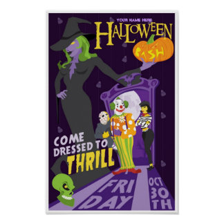 Personalized Halloween Friday party poster