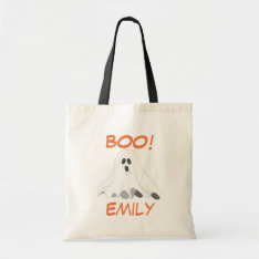 Personalized Halloween Ghost Tote at Zazzle