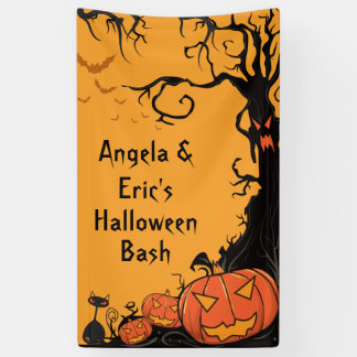 Personalized Halloween Party Banner