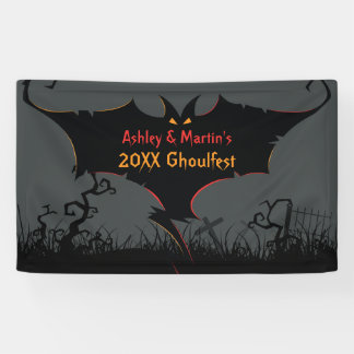 Personalized Halloween Party Banner Scary