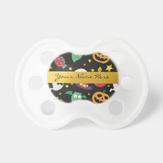 Personalized Halloween Party Pattern Pacifier