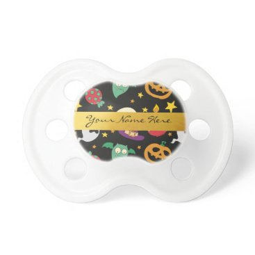 Halloween Themed Personalized Halloween Party Pattern Pacifier