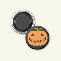 Personalized Halloween Pumpkin Magnet
