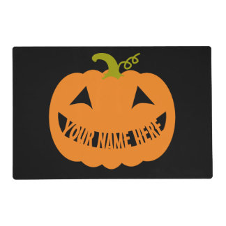 Personalized Halloween Pumpkin Placemat
