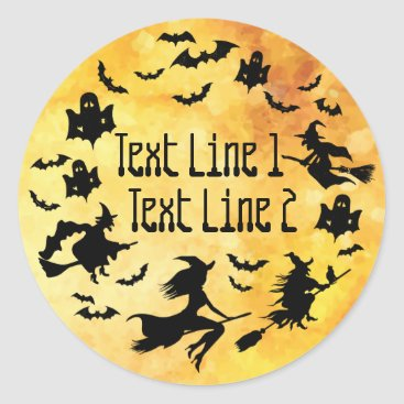 Halloween Themed Personalized Halloween-Themed Classic Round Sticker