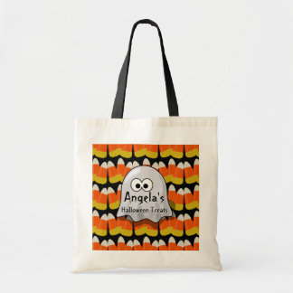 Personalized Halloween Treats Ghost Candy Corn Bags