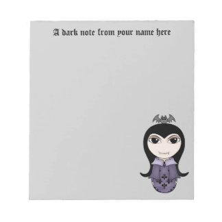 Personalized Halloween vampire Notepad