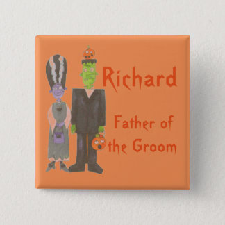 Personalized Halloween Wedding Buttons