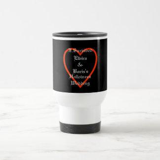 Personalized Halloween Wedding Favor Travel Mug