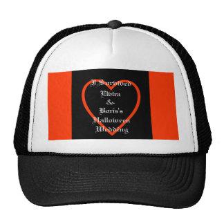Personalized Halloween Wedding Favor Trucker Hat