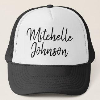 Personalized Handwritten Script Trucker Hat